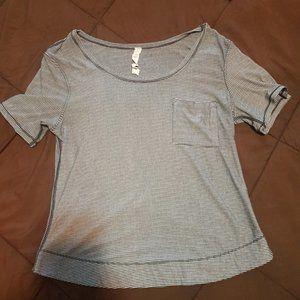 Lululemon Navy Stripped T-Shirt